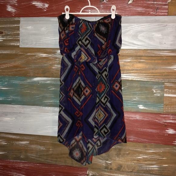 Deb Dresses & Skirts - Strapless Aztec Design Dress